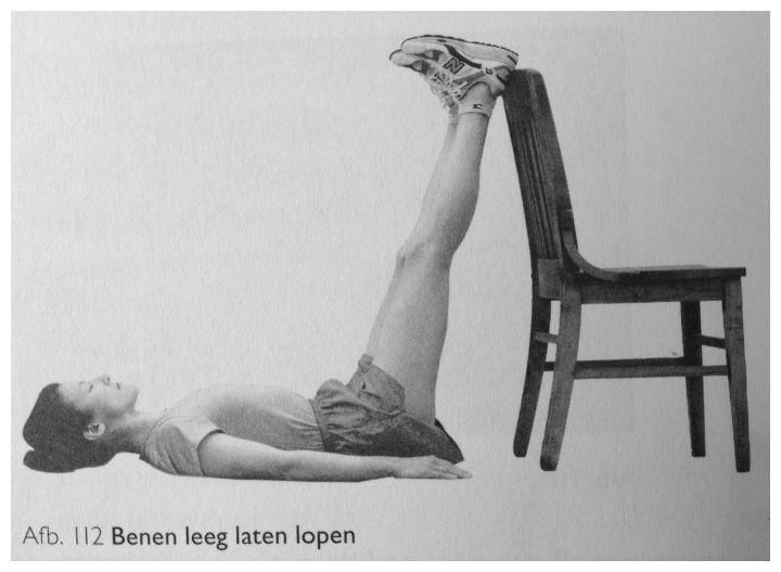 Oefening ChiRunning benen leeg laten lopen